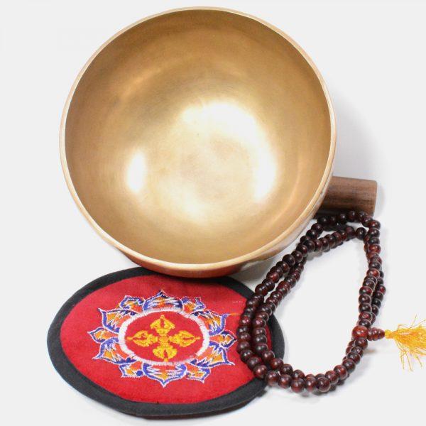 6 Inch Tibetan Handmade 7 Metal Singing Bowl Set with Cushion and Striker Stick